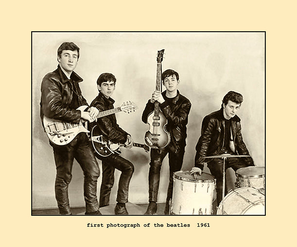 first photograph of the beatles  1961
