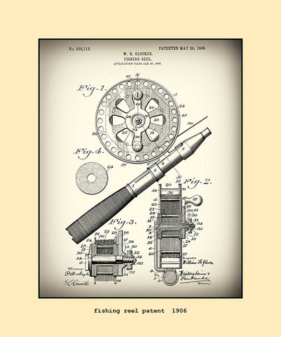 fishing reel patent 1906