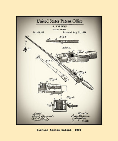 fishing tackle patent 1884