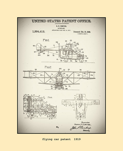 flying car patent  1919