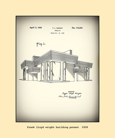 frank lloyd wright building patent  1939