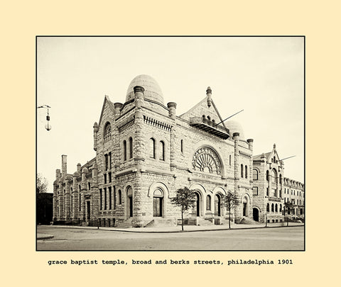 grace baptist temple, philadelphia  1901