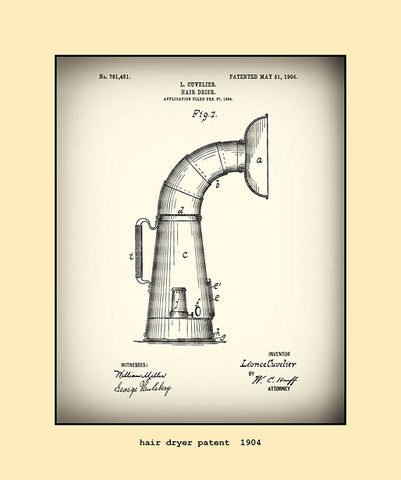 hair dryer patent  1904