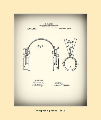 headphone patent  1915