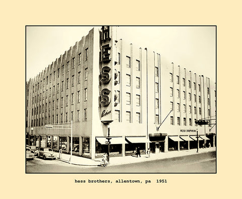 hess brothers, allentown, pa  1951