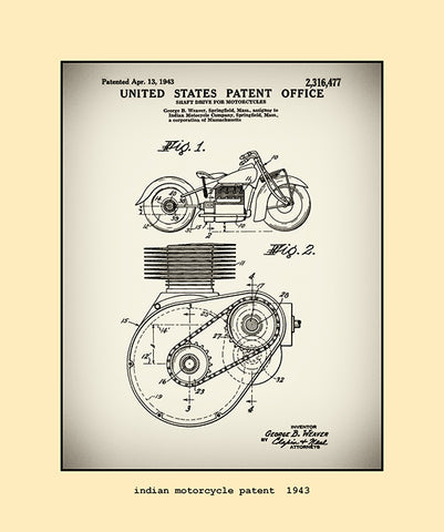 indian motorcycle patent  1943
