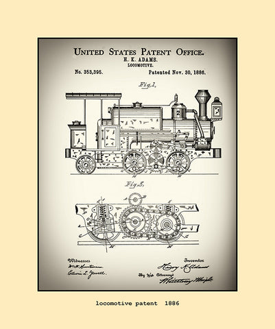 locomotive patent  1886