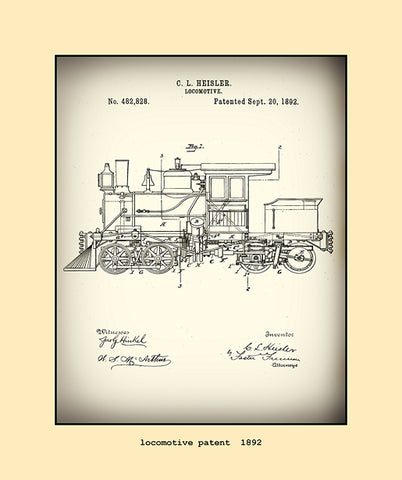 locomotive patent  1892