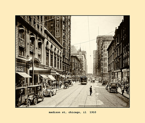 madison street, chicago  1910