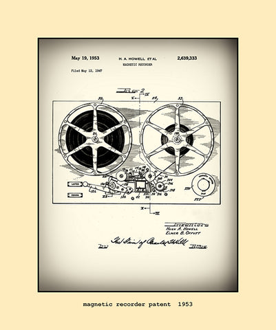 magnetic recorder patent  1953