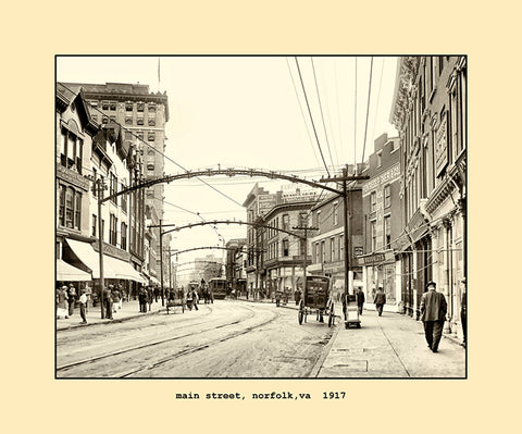 main street, norfolk, va  1917
