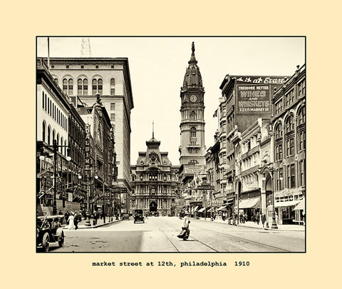 market street at 12th, philadelphia  1910