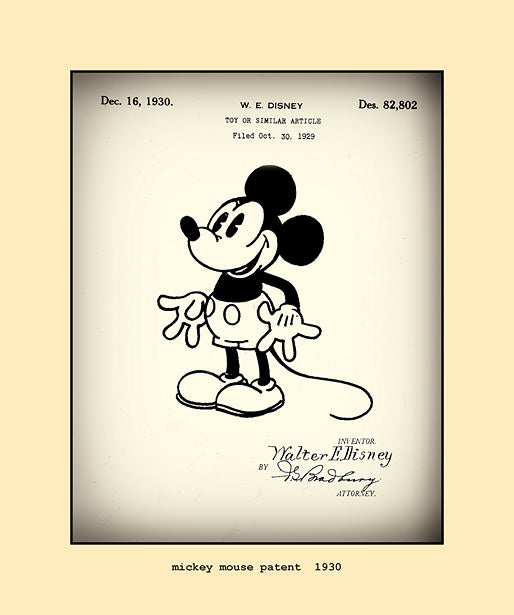 mickey mouse patent  1930