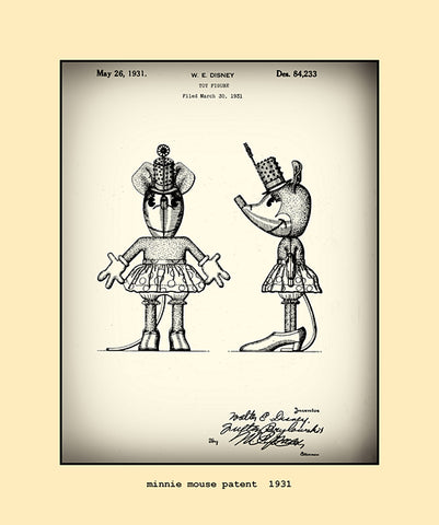 minnie mouse patent  1931