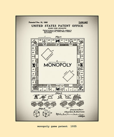 monopoly game patent  1935