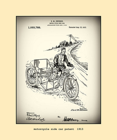 motorcycle side car patent  1913