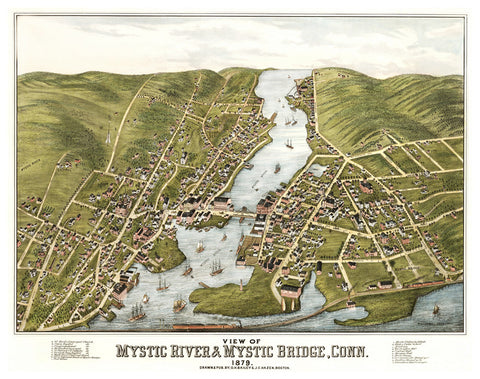 Mystic River and Mystic Bridge  1879