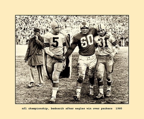nfl championship, eagles over packers  1960