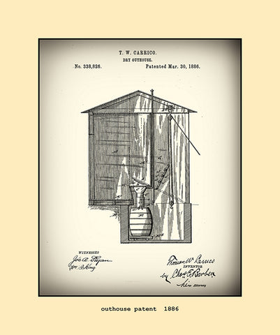outhouse patent  1886