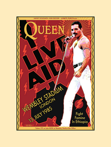 Queen Live Aid concert poster