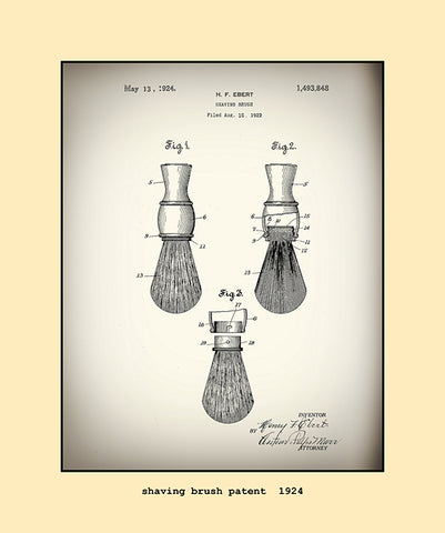 shaving brush patent  1924