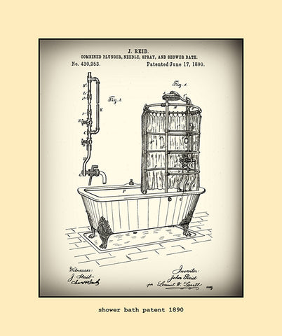 shower bath patent  1890