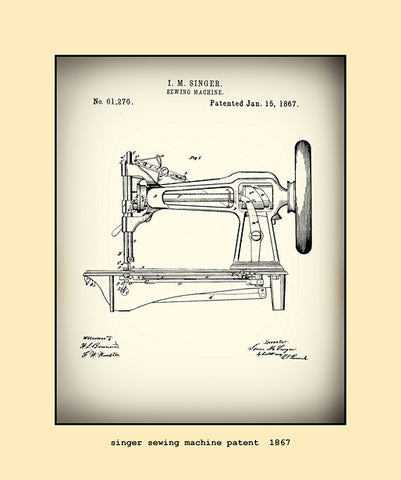 singer sewing machine patent  1867