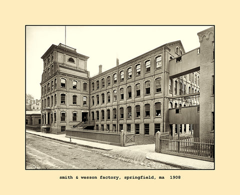 smith & wesson factory, springfield, ma  1908