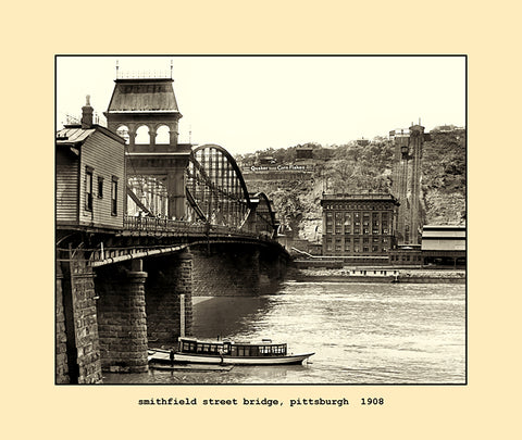 smithfield street bridge, pittsburgh  1908