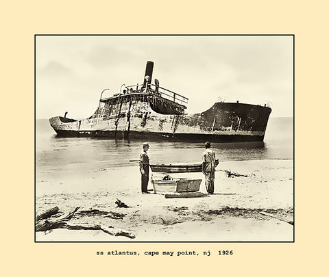 ss atlantus, cape may point, nj  1926