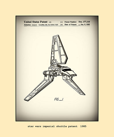 imperial shuttle patent  1985