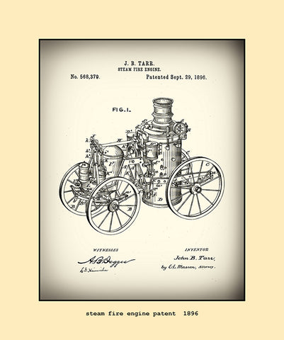 steam fire engine patent  1896
