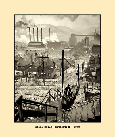 steel mills, pittsburgh  1940