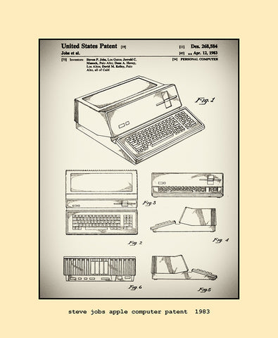 steve jobs apple computer patent  1983