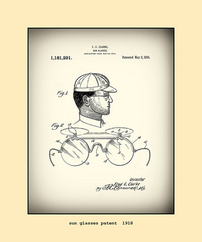 sun glasses patent  1918