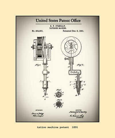tattoo machine patent  1891