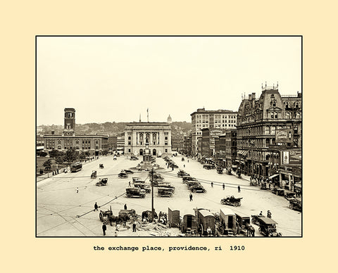 the exchange place, providence, ri  1910