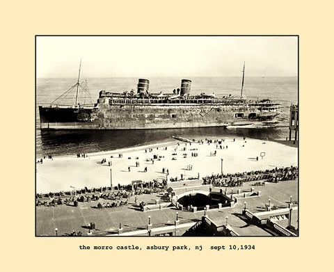 the morro castle, asbury park, nj  sept,10, 1934