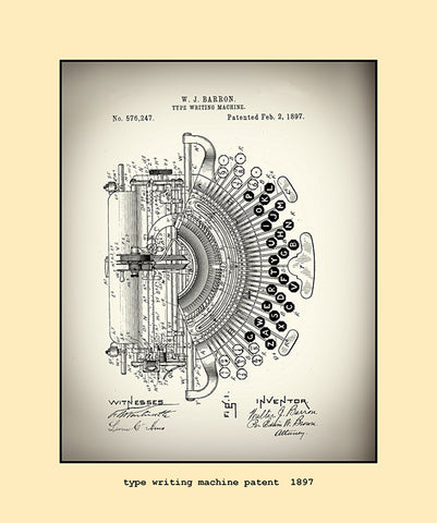 type writing machine patent  1897