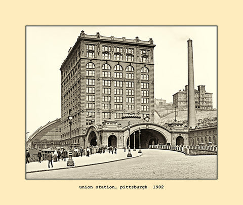 union station, pittsburgh  1902