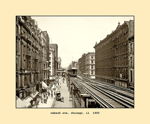 wabash avenue, chicago  1900
