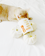 Shop keep calm and Love Cats coffee tea cup mug cat mom cat lover club kitty cat Li-Jacobs® Lifestyle Concept Store