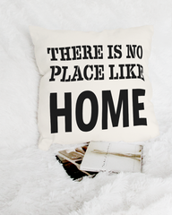 Shop there is no place like home minimal farmhouse lifestyle decorative throw pillow cushion for bed couch sofa Li-Jacobs® Lifestyle Concept Store