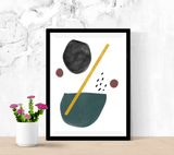 Beto Uncertain Abstract Shape Minimal Mid Century Scandi Art Matte Poster