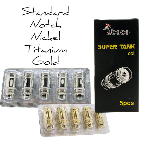 Tobeco Mini Super Tank Replacement Coil Heads (5-Pack)