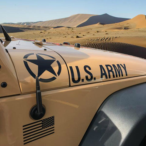 50 Cal. Bullet Antenna for Jeep Wrangler