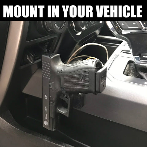 Magnetic Gun Mount Amp Holster For Vehicle And Home Rubber