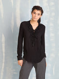 Black Shirt With Ruffles Deby Debo DEBY DEBO- Here Now