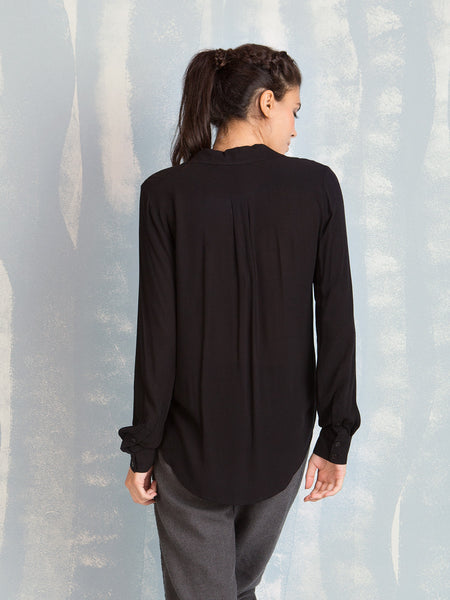 Shirt Black With Ruffles Deby Debo DEBY DEBO- Here Now