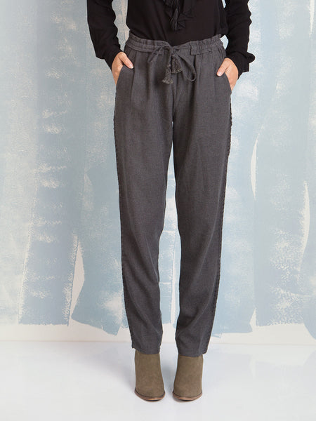 Pants for Women Grey Cotton Deby Debo DEBY DEBO- Here Now